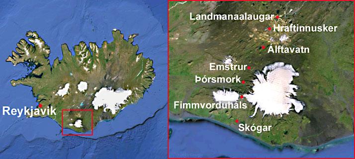 Landmannalaugar hike map