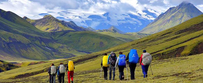 Landmannalaugar hike trail