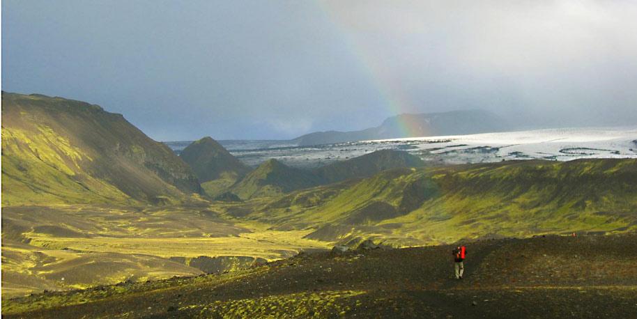 Landmannalaugar hike trail, glaciar