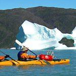 kayak entre icebergs, Groenlandia hotel tour