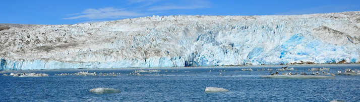 frentes glaciares en Groenlandia
