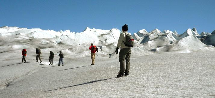 Groenlandia, hiking en glaciar