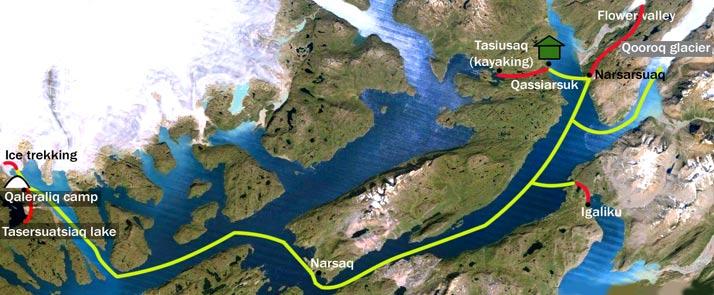 groenlandia desde islandia mapa