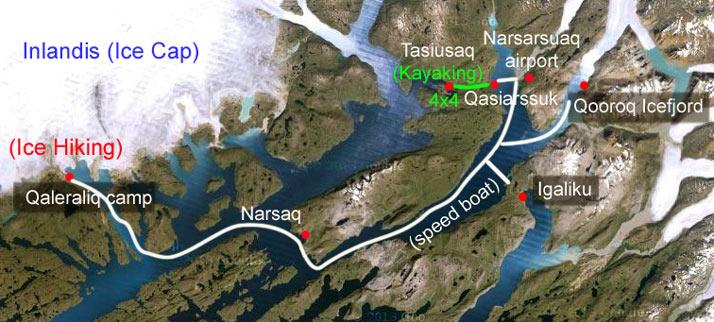 viaje groenlandia mapa